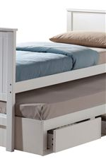 Tall Trundle Bed Provides Extra Storage Cleverly Packed Underneath
