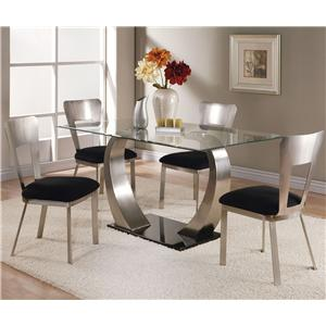 Acme Furniture Camille 5 Piece Dining Table and Side Chair Set