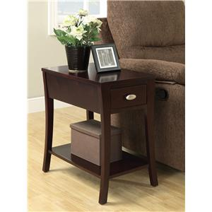 Acme Furniture Corin Side Table with 1 Drawer and Splayed Legs