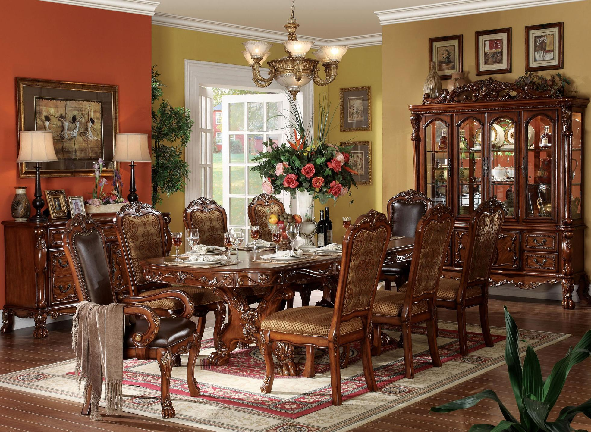 Acme Furniture Dresden 9 Piece Dining Table and Chair Set | Rooms ...