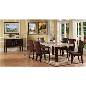 Acme Furniture Fraser 7 Piece Table & Chair Set