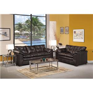 Acme Furniture Hayley Casual Sofa with Pillow Arms