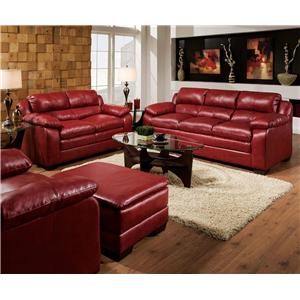 Red Stationary Living Room Group