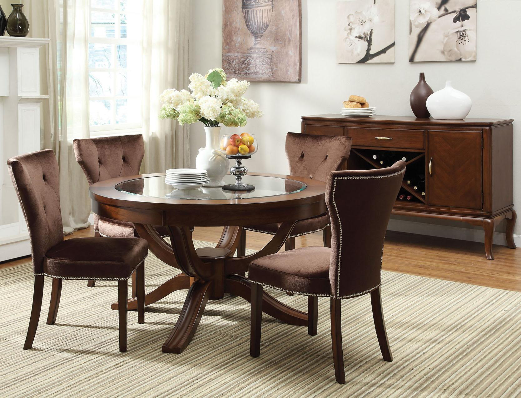 Acme Furniture Kingston 5 Piece Formal Dining Table And Chair Set