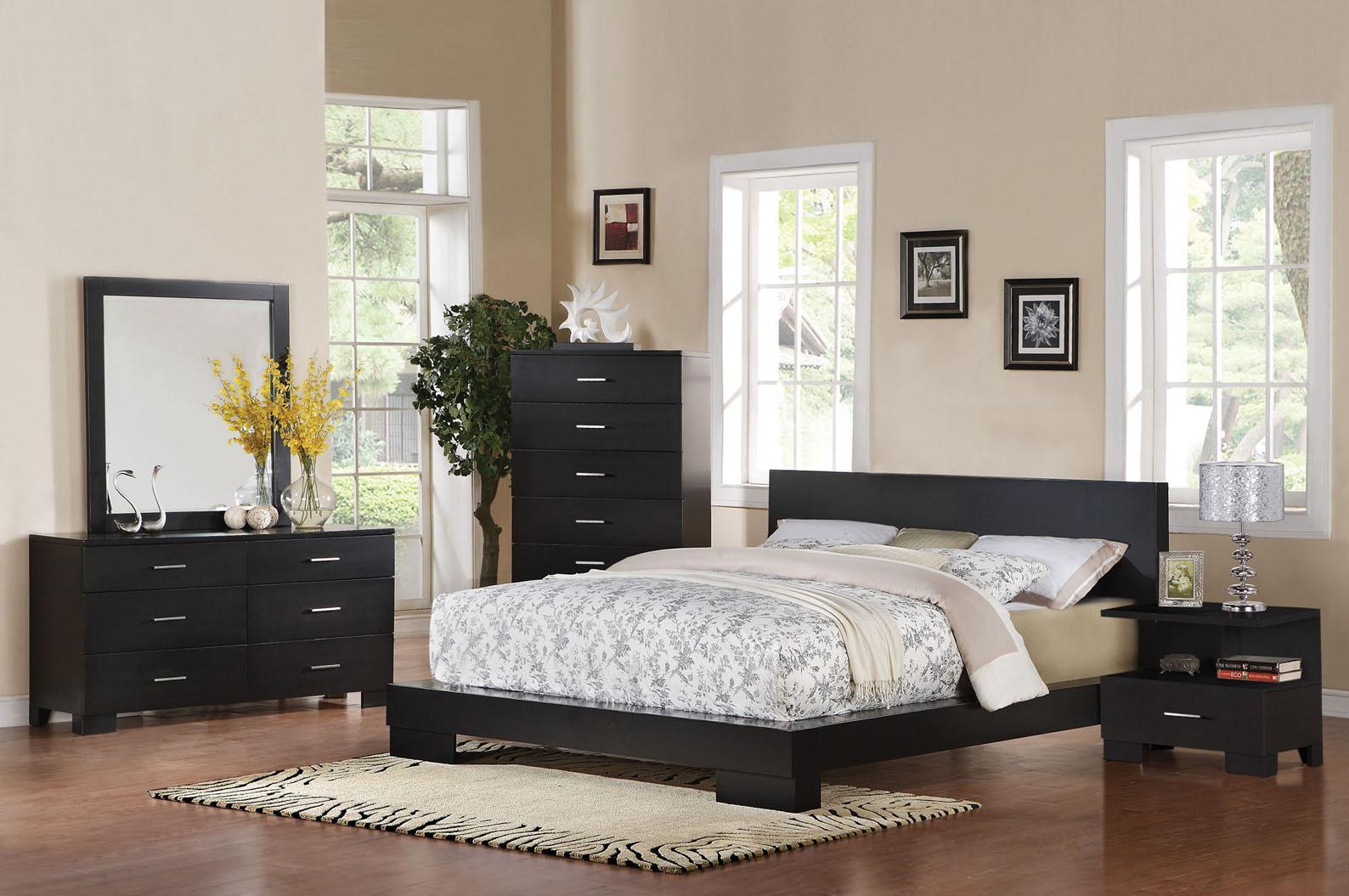 Acme Furniture London Platform Queen Bedroom Group - Item Number: 2006 Q Platform Bedroom Group