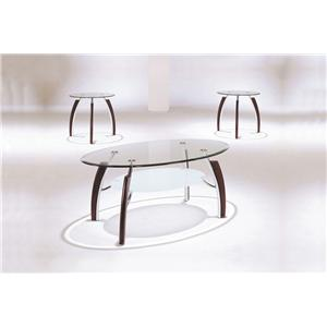 Acme Furniture Martini Casual Contemporary Glass Dining Table