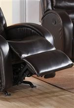 Smooth Pad-Over-Chaise Seat Seamlessly Flows to Reclining Footrest