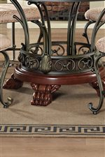 Elaborate Pedestal Base with Metal Scrolling and Monopodium Feet