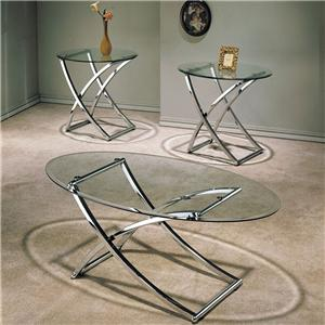 Acme Furniture Paradise 3 Piece Beveled Glass Top Occasional Set