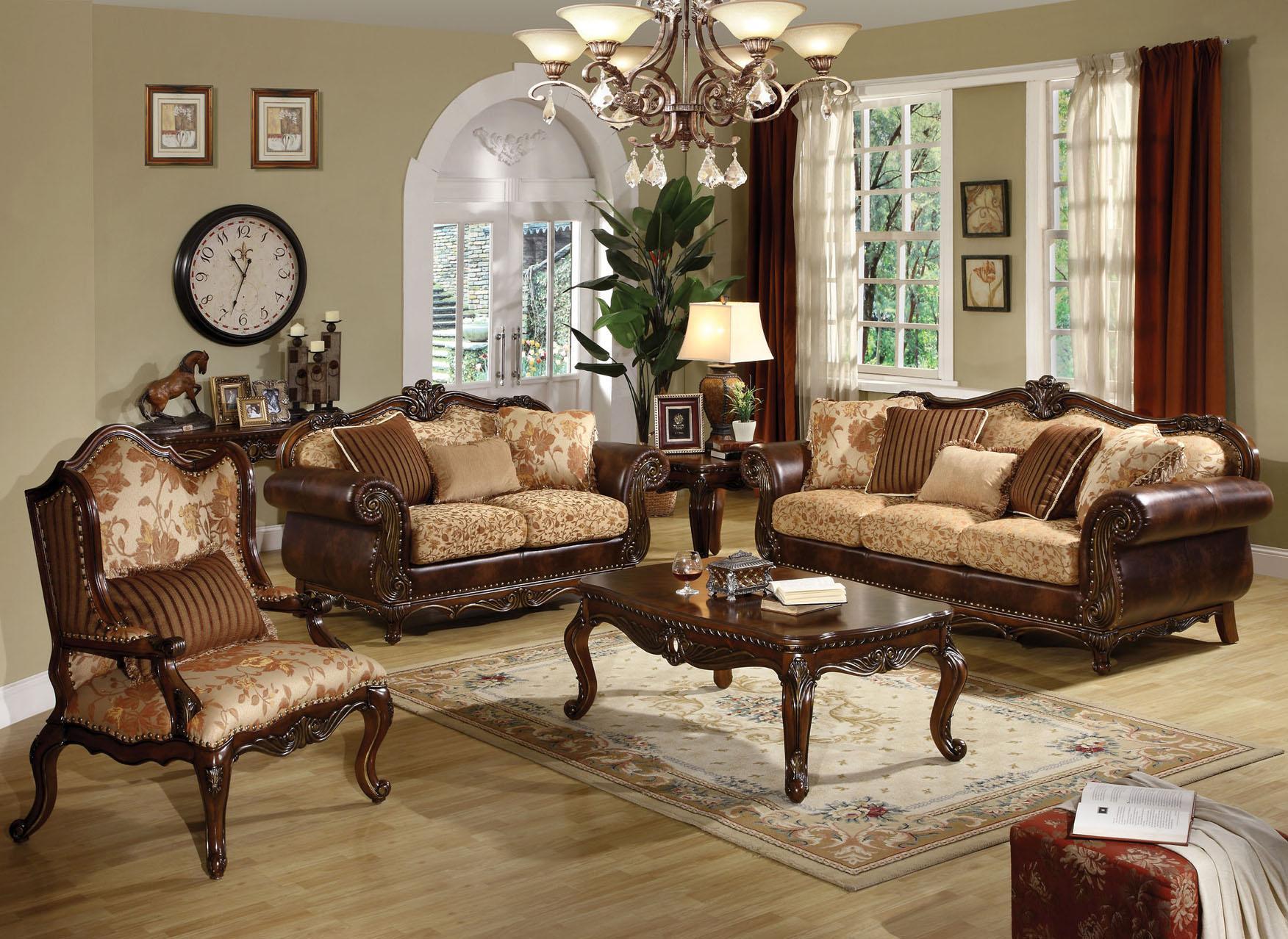 Acme Furniture Remington  Stationary Living Room Group - Item Number: 202 Stationary Living Room Group