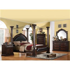 Acme Furniture Roman Empire California King Bedroom Group