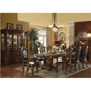 Acme Furniture Vendome 9 Piece Counter Height Table and Chairs Set