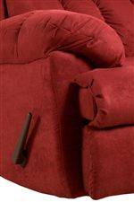 Pillow Topped Arms and Attached Chaise Footrests Provide a Casual Comfort for Home Relaxation