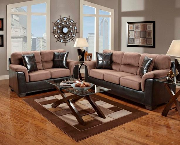 Etonnant Fabric/Faux Leather Sectional With Wedge   6200 By Affordable Furniture    Wilcox Furniture   Sofa Sectional Corpus Christi, Kingsville, Calallen,  Texas