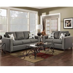 Charmant Affordable Furniture 3600 Stationary Living Room Group