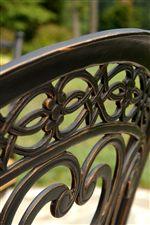 Chair Backs are Beautifully Detailed to Bring a Bit of Traditional Living to the Outdoors