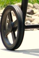 Outdoor Lounge Chaise Cast Aluminum Wheel Detail