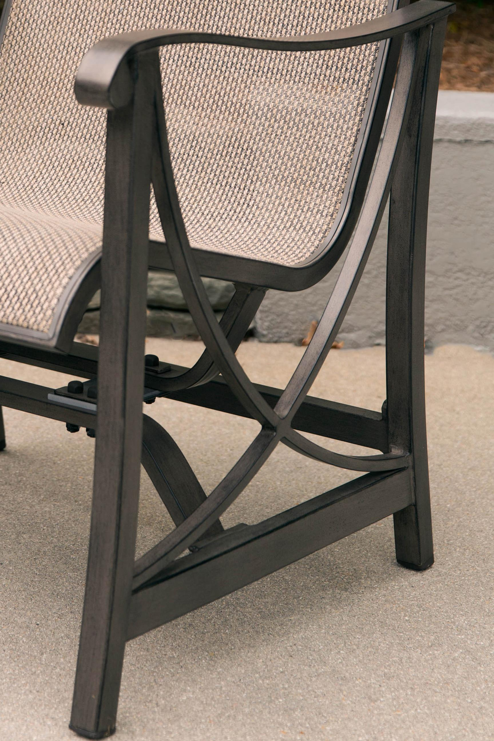 Agio Davenport Outdoor Swivel Rocker with Woven Back