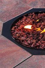 Decorative Lava Rocks and Adjustable Flame Height