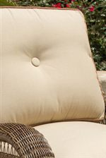 Fully Boxed Cushion with Contrasting Welt and Button Detail