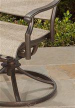 Aluminum Rolled Arms and Swivel Rocker Base
