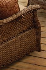 Wicker Frames with Braided and Scored Weave Design