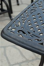 Basket Weave Cast Top Occasional Tables