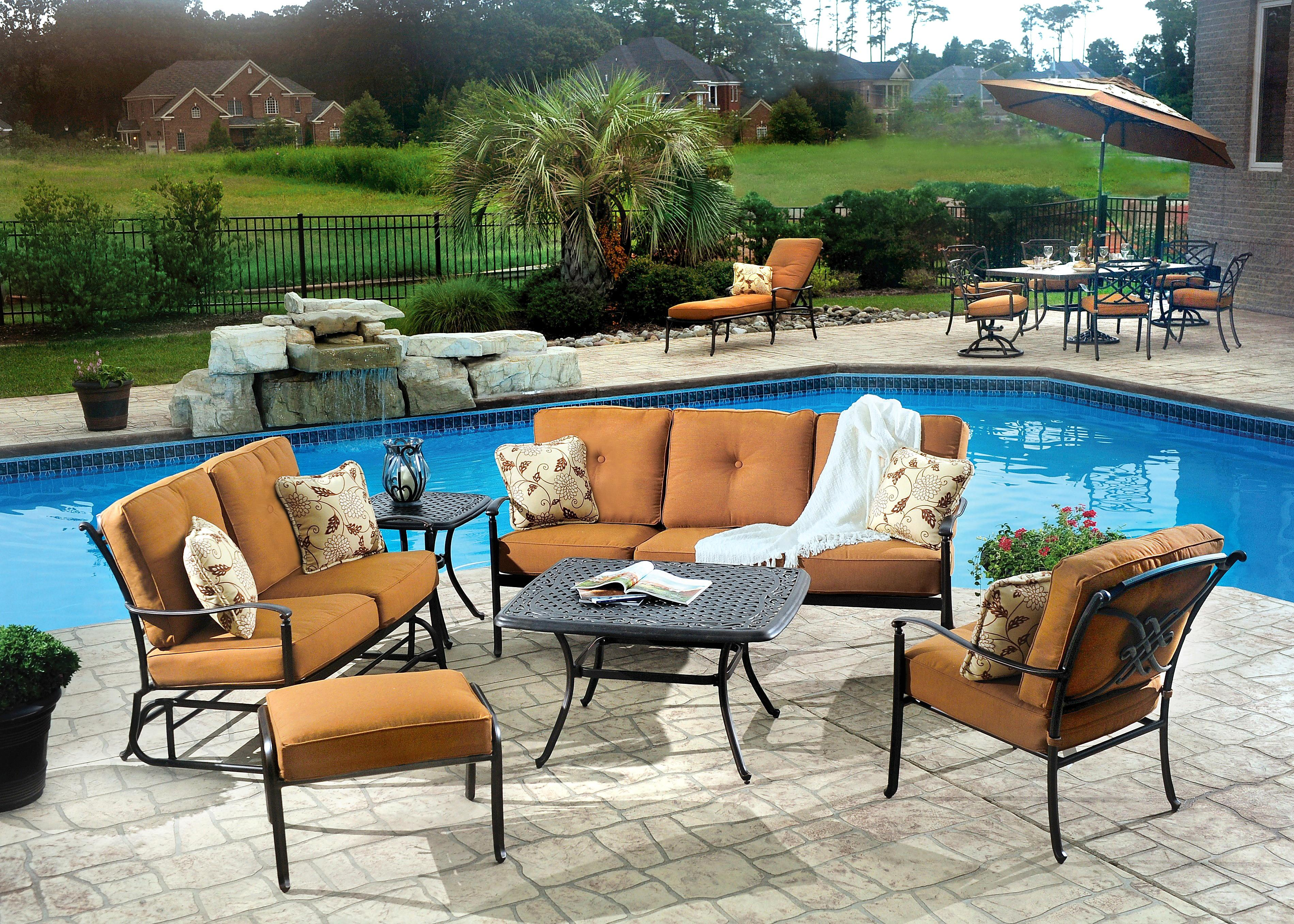 Agio Willowbrook Patio Furniture.Agio Willowbrook Outdoor Conversation Chat Set Fmg Local Home