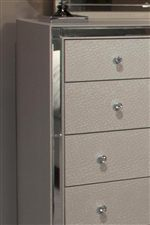 Storage Pieces, like this Dresser, Feature a Textured Upholstery Covering