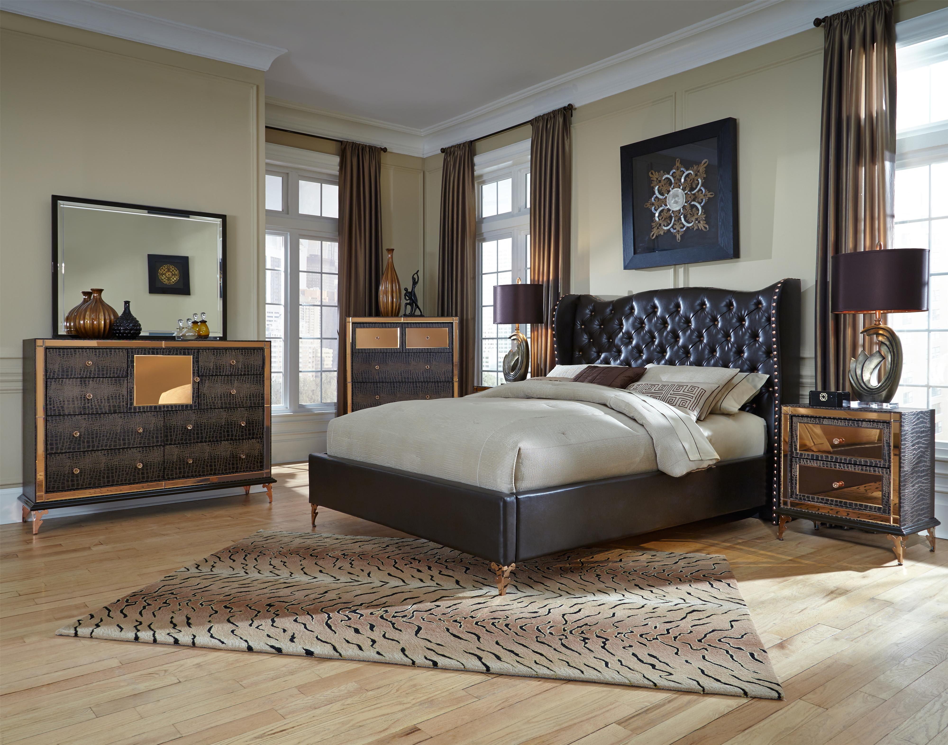 Michael Amini Furniture Store Locations Michael Amini Hollywood Loft King Bedroom Group - Jacksonville ...