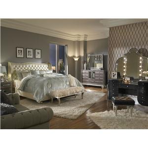 Michael Amini Hollywood Swank King Bedroom Group