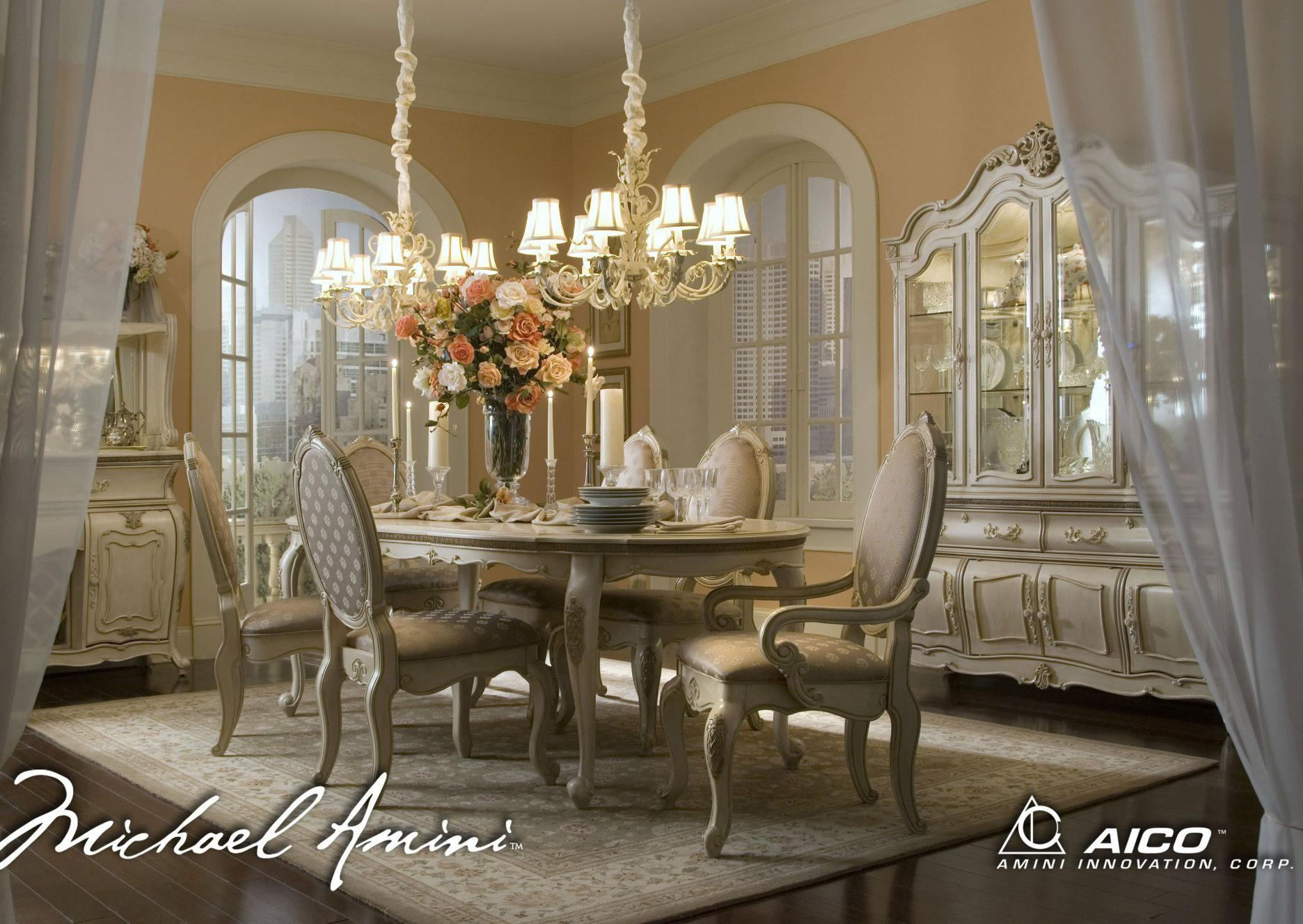 Michael Amini Furniture Store Locations Michael Amini Lavelle Formal Dining Room Group - Olinde's Furniture ...