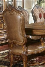 Leather Arm Chair with Nailhead Trim
