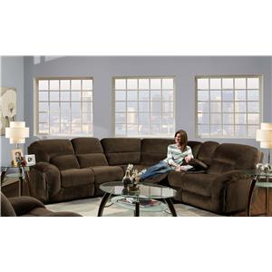 Albany 1735 Casual Rocker Recliner with Pillow Top Arms