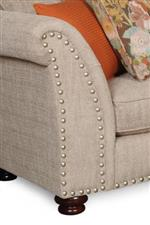 Nailhead Trim Along the Front of the Sofa Adds a Classy Touch