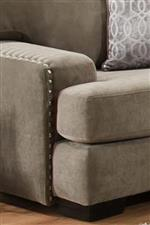 Nailhead Trim Along the Edge of the Arms Adds Class