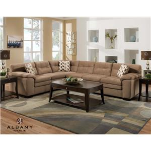 Albany 782 Casual Love Seat with Tufted Back