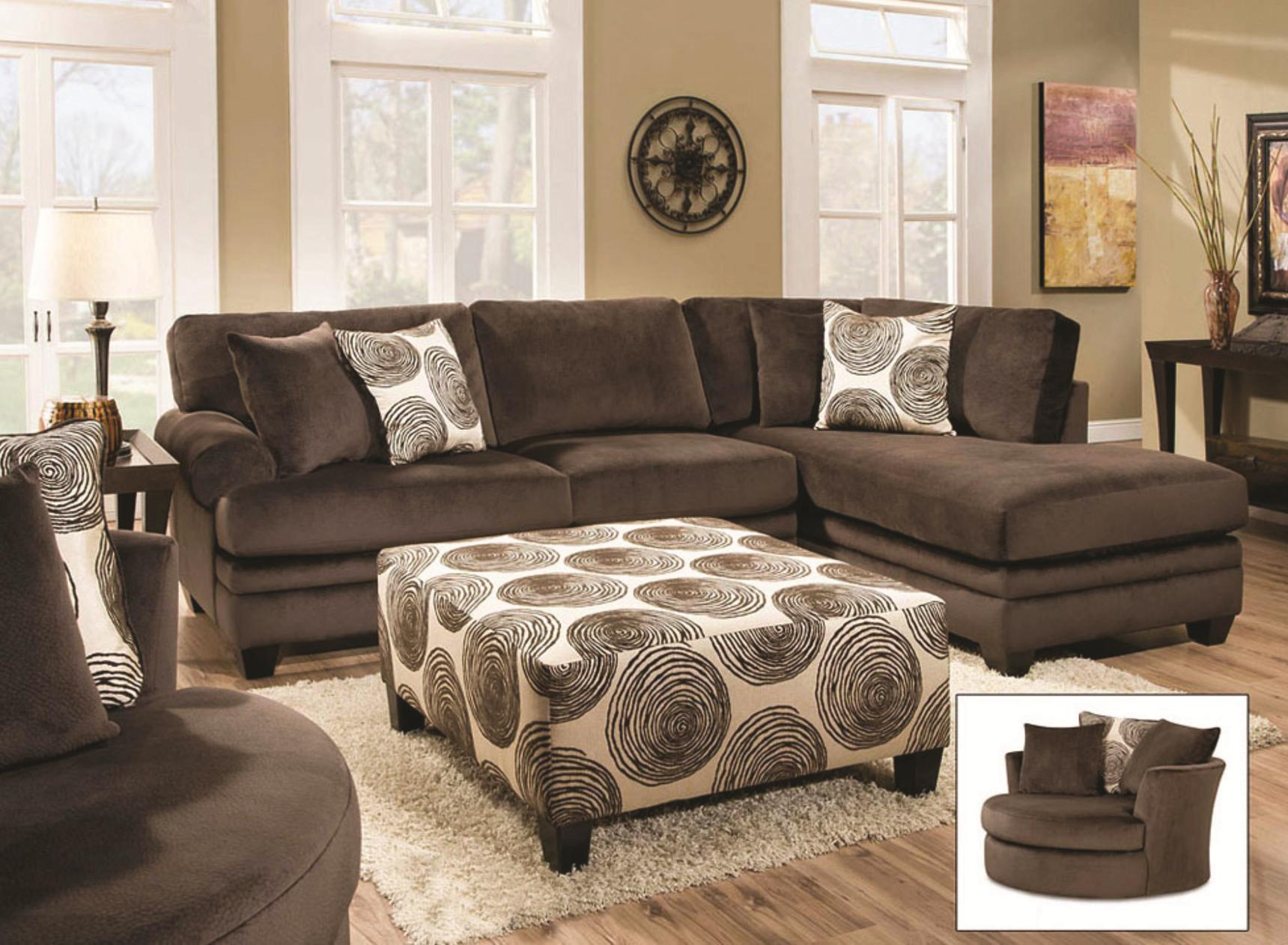 Albany WINFREY Transitional Sectional Sofa with Chaise