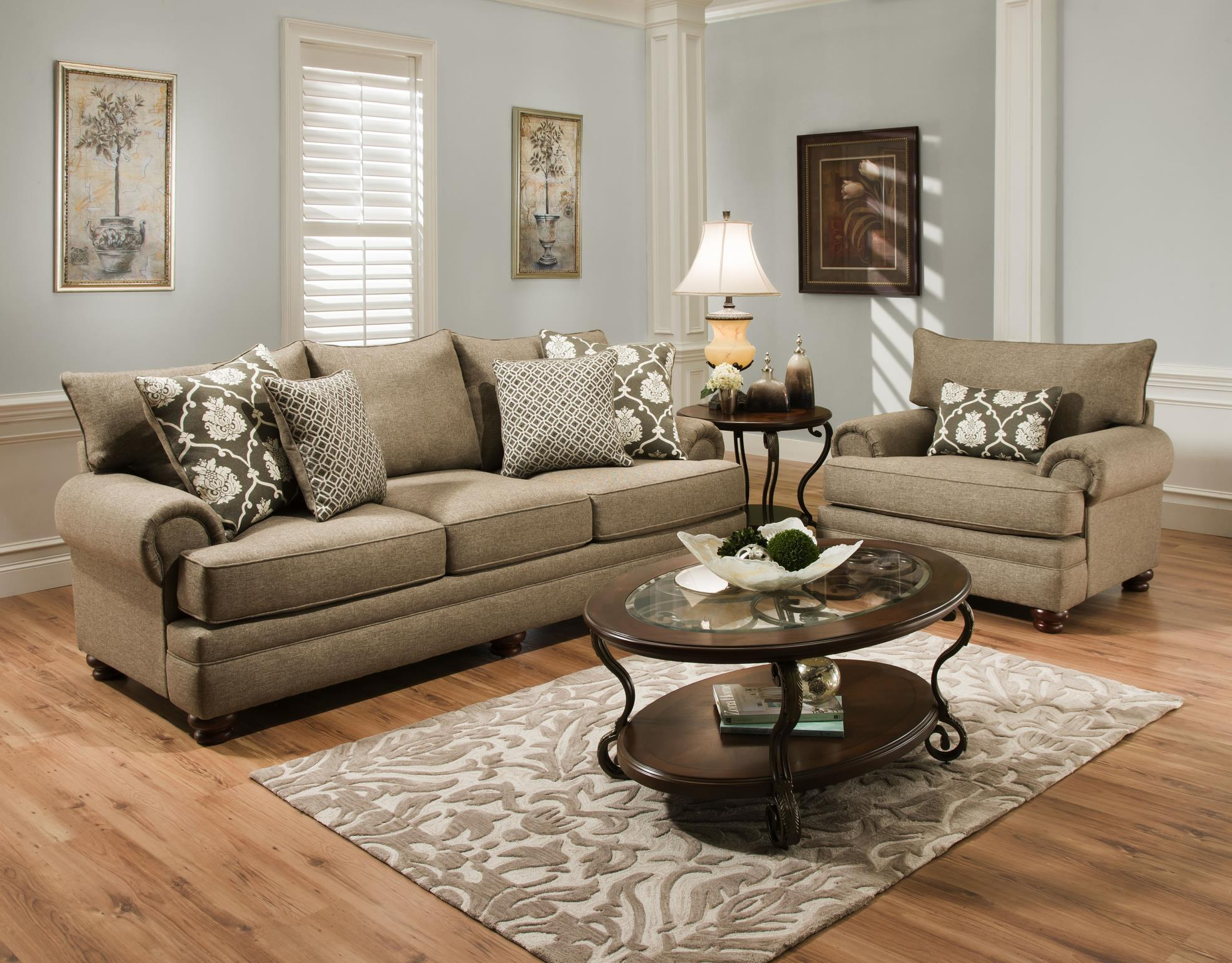 Albany 8645 Stationary Living Room Group - Item Number: 8645 Living Room Group 1