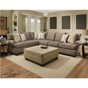 Albany 8645 Love Seat with Loose Back Pillows