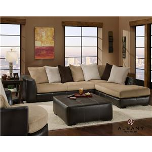 Albany 348 San Marino Contemporary 2 Piece Sectional with RAF Chaise