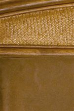 Detail of Headboard with Woven Pattern and Cushion