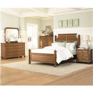American Drew Grand Isle Vertical or Horizontal Landscape Beveled Mirror with Carved & Reeded Accents on the Wood Frame