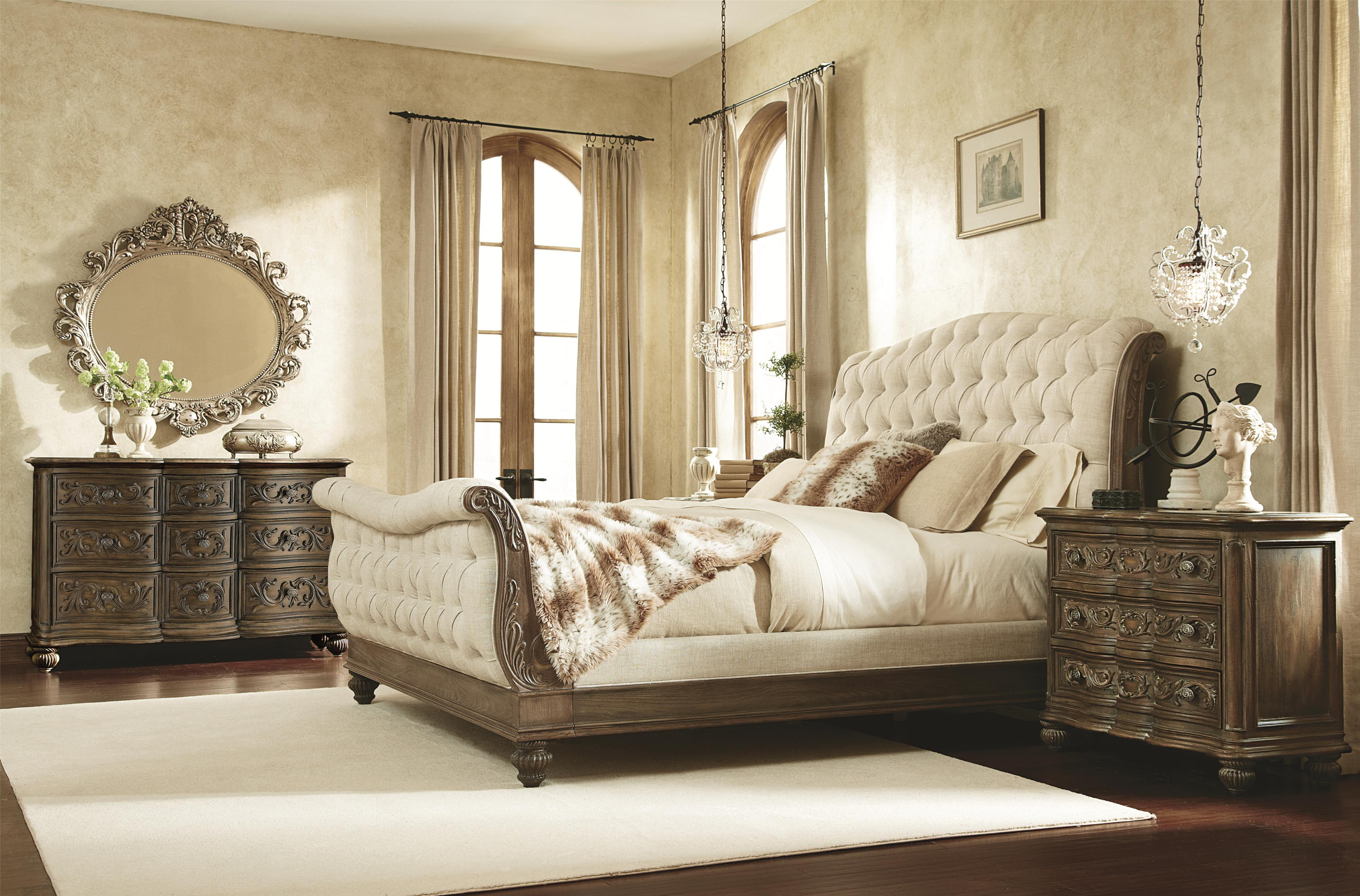 American Drew Jessica McClintock Home - The Boutique Collection Queen Bedroom Group - Item Number: 217B Queen Bedroom Group 4