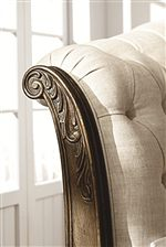 Scroll Carvings on Select Headboards