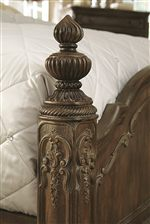 Fluted Tear Drop Finials on Select Beds