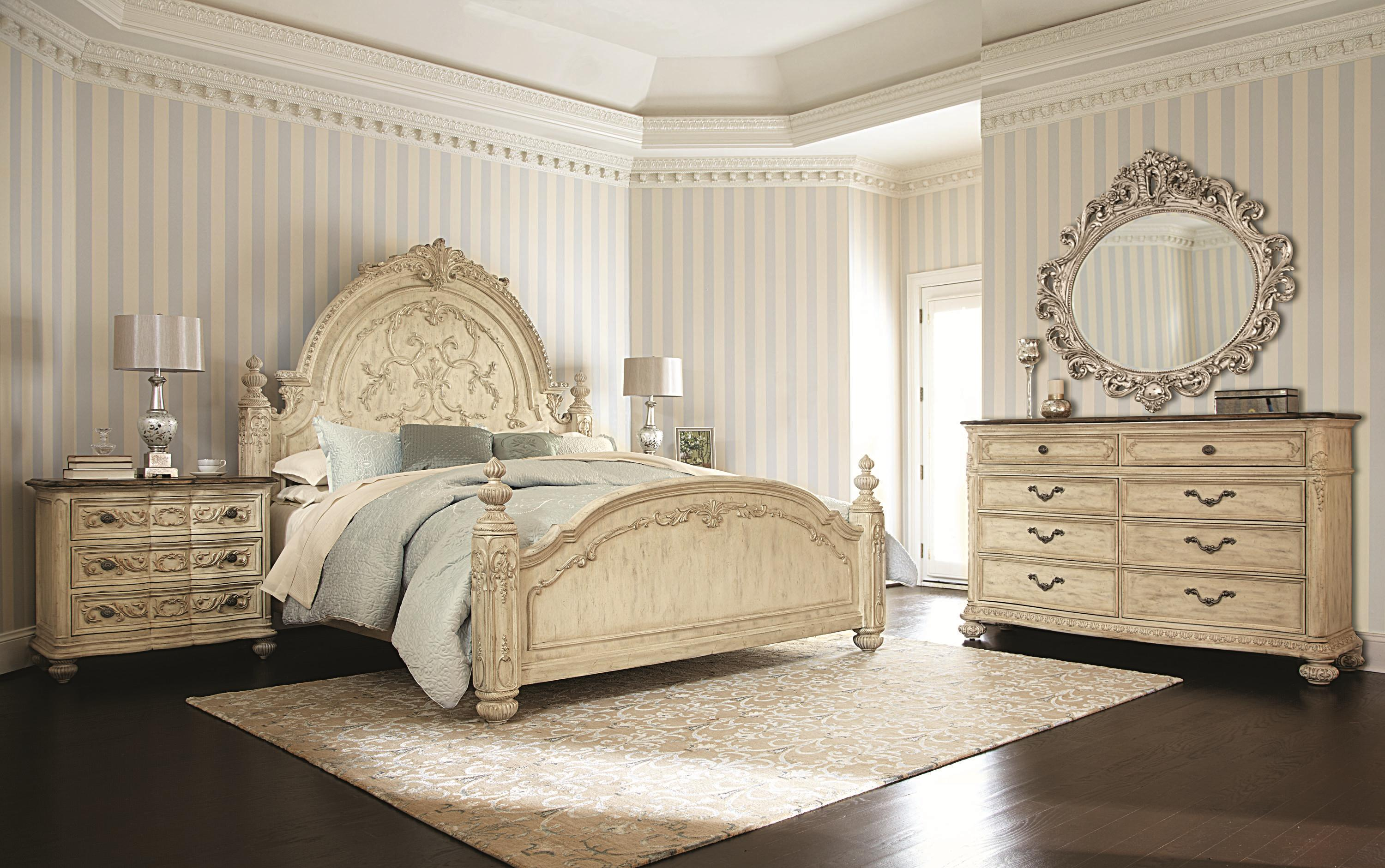 American Drew Jessica McClintock Home - The Boutique Collection Queen Bedroom Group - Item Number: 217W Queen Bedroom Group 2