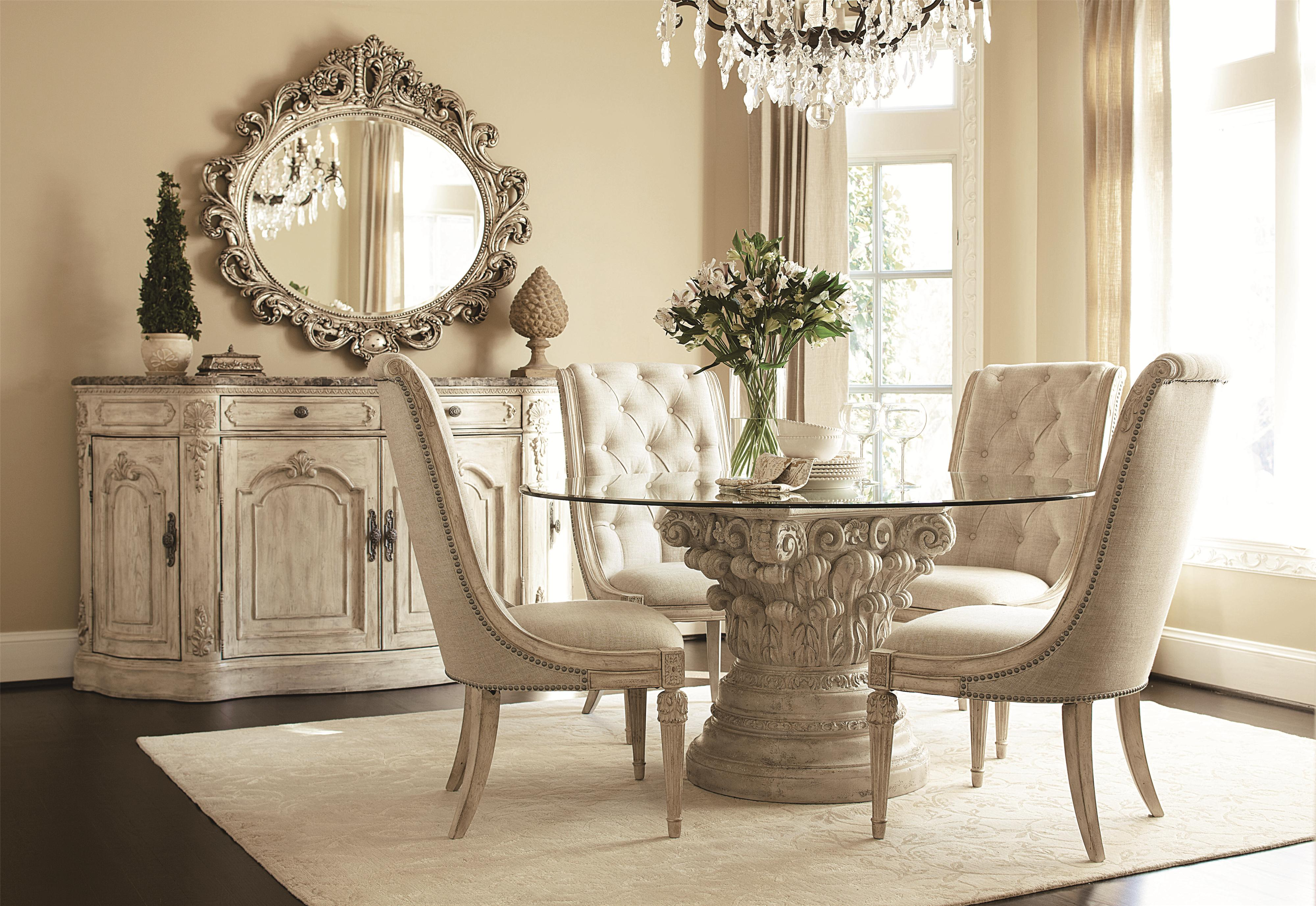 American Drew Jessica McClintock Home - The Boutique Collection Formal Dining Room Group - Item Number: 217W Dining Room Group 4