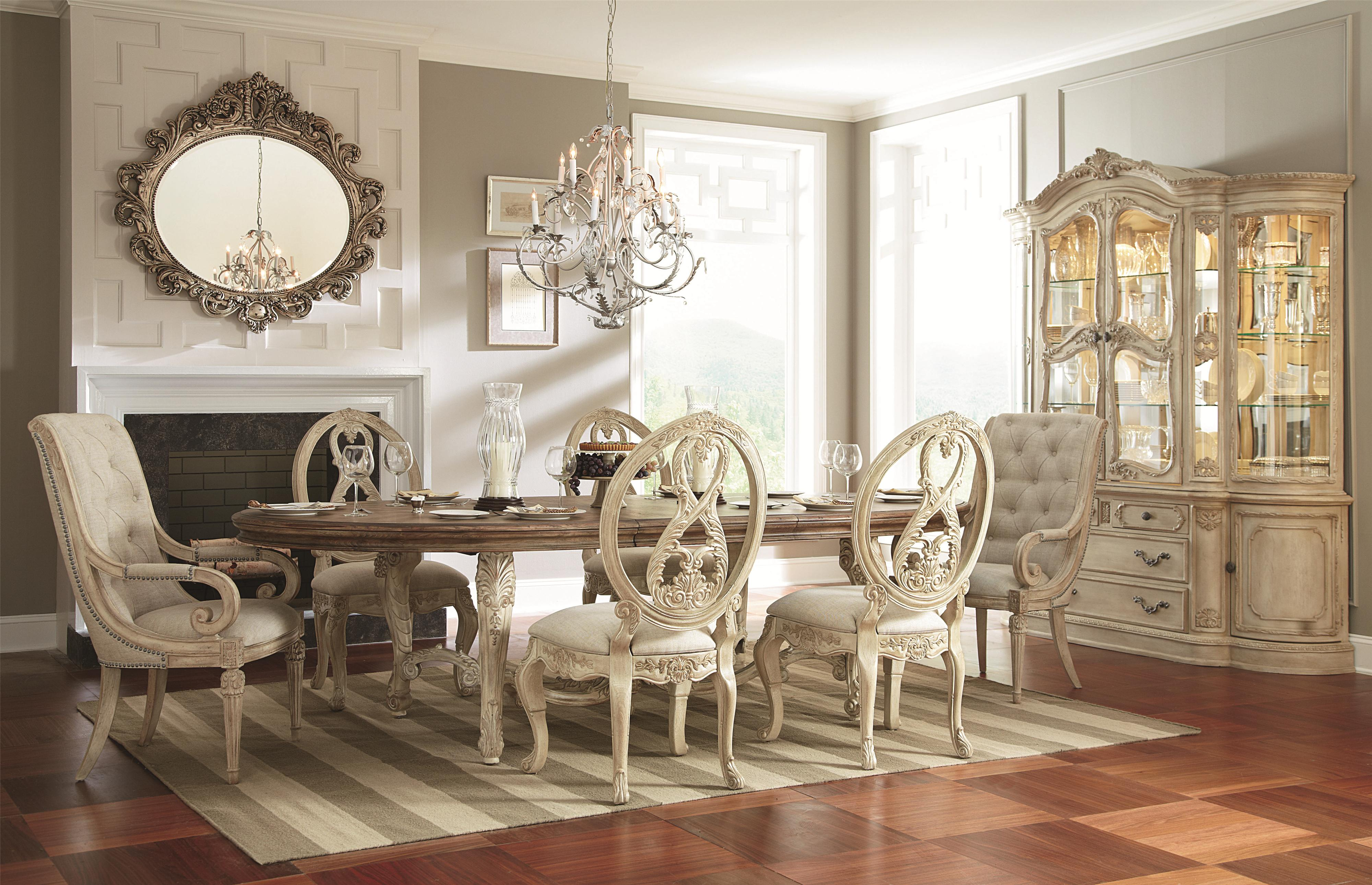 American Drew Jessica McClintock Home - The Boutique Collection 7 Piece Dining Table Set | Northeast Factory Direct | Dining 7 (or more) Piece Sets ... & American Drew Jessica McClintock Home - The Boutique Collection 7 ...