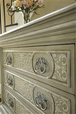 Raised Panel Drawer Front Molding with Traditional Hardware